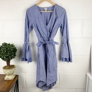 A NEW DAY Blue & White Striped Dress Size X-Small